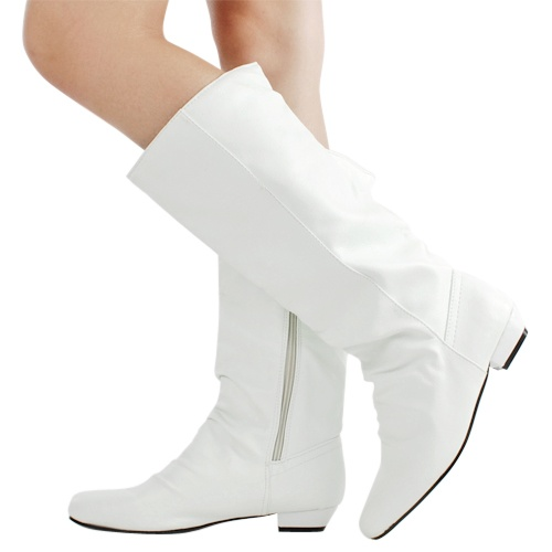 Innovative Funtasma GoGo 300WC Women39s 3 Inch Block Heel Wide Boot White 9  EBay