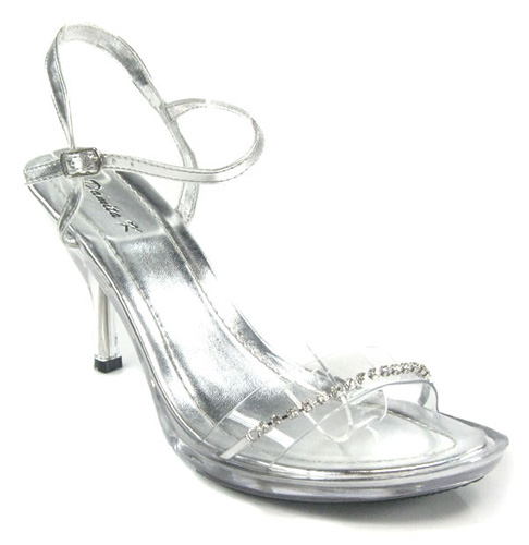 clear jeweled sandals formal wedding shoes ebay